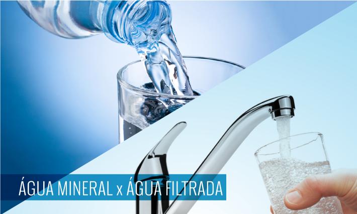 Agua del grifo filtrada o agua embotellada