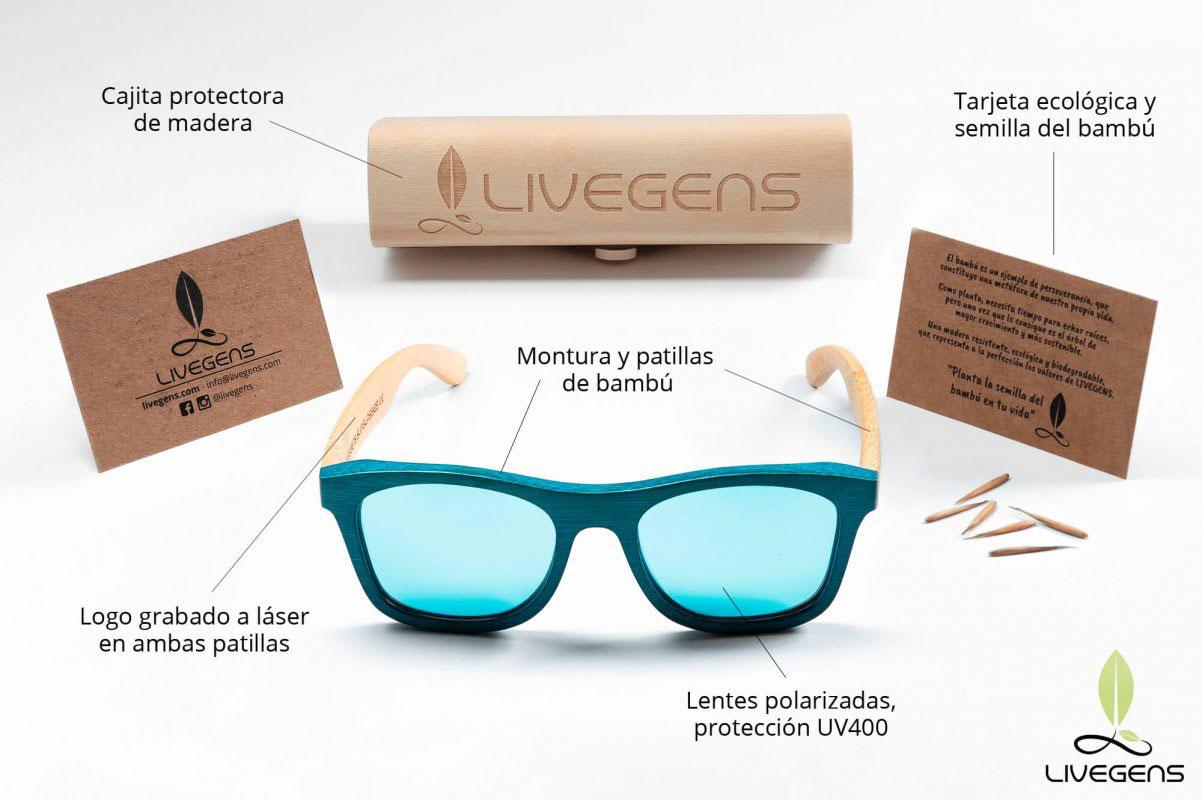 gafas de madera para vestir