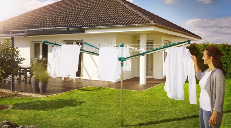 Tendedero de jardín para ahorrar energía