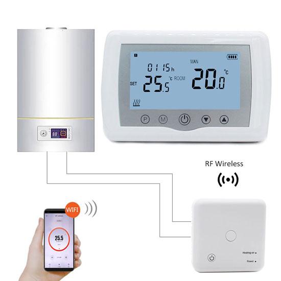 como funciona un termostato caldera